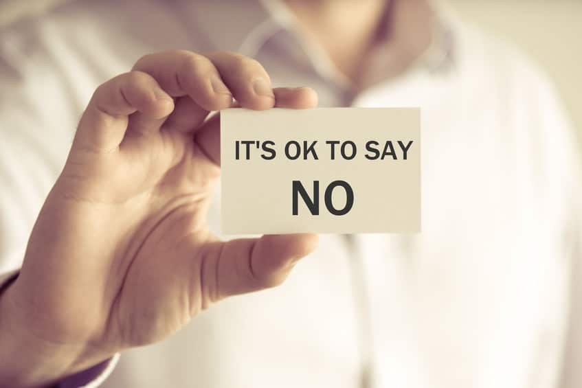 """No"" Can be a Beautiful Word if you Know that it's Okay"